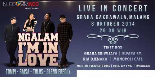 Ngalam I'm In Love with Tompi, Raisa, Tulus & Glenn Fredly
