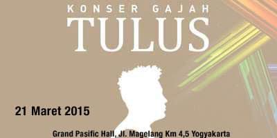 Konser Gajah Tulus di Yogyakarta