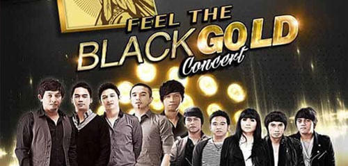 Ungu dan Geisha di Feel The Blackgold Concert