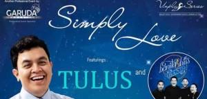 Tulus dan Bonita & Husband di Konser Simply Love