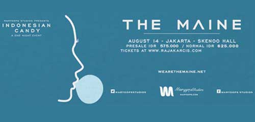 Konser Musik Rock The Maine di Indonesian Candy A One Night Event