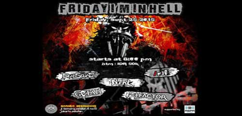 /rif Manggung di Konser Friday I'm In Hell