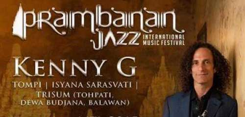 Kenny G Tampil di Prambanan Jazz International Music Festival