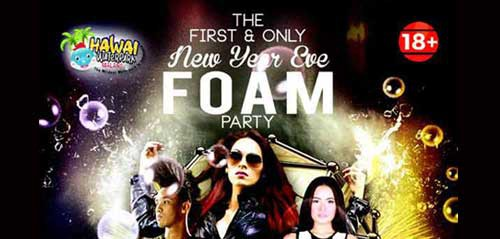 Event New Year Eve Foam Party di Malang