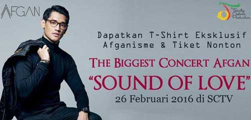 The Biggest Concert Afgan 2016, Konser GRATIS Buat Penggemar Afgan