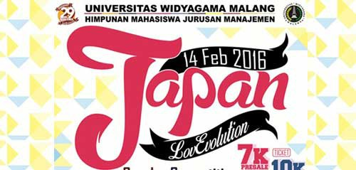 Tonton Japan LovEvolution 2016 di Kota Malang