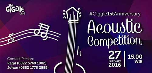 Yuk Ikutan Giggle 1st Anniversary Acoustic Competition!