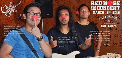 Dukung Pendidikan Bagi Anak Kurang Mampu di Red Nose in Concert with Gugun Blues Shelter