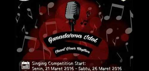 "Tunjukkan Bakat Menyanyimu di Gunadarma Idol ""Chant your Rhytm"""