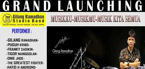 Grand Launching Gilang Ramadhan Studio Band