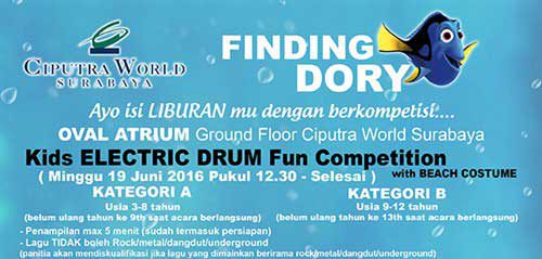 Kids Electric Drum Fun Compettion di Finding Dory Fun Competition