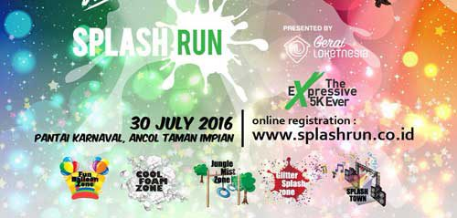 Sehat & Ceria Bersama The Angels Percussion & Project Pop di Splash Run
