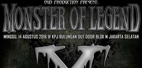 Panggung Musik Metal Monster Of Legend X di KPJ Bulungan Out Door