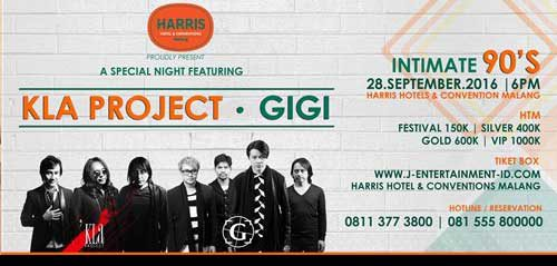An Intimate 90's Night Bersama Kla Project & Gigi Band di Kota Malang
