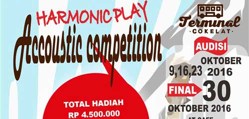 Cafe Terminal Cokelat Gelar Harmonic Play Accoustic Competition
