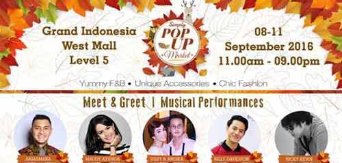 Maudy Ayunda Tampil di Simply Pop Up Market 2016