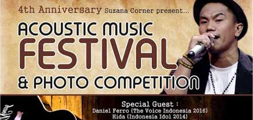 4th Anniversary Suzana Corner Gelar Acoustic Music Festival & Photo Competition