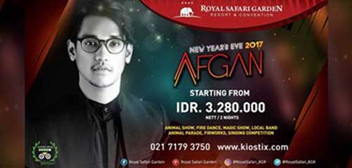 Special Performance Afgan di Acara New year's Eve 2017