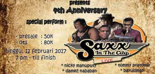Saxx in the City Tampil Menghibur di Saxxomunity Malang 4th Anniversary
