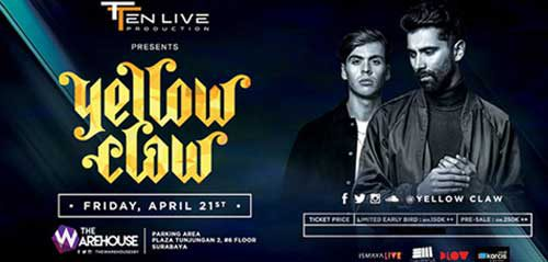 Aksi Duo DJ Yellow Claw di Surabaya