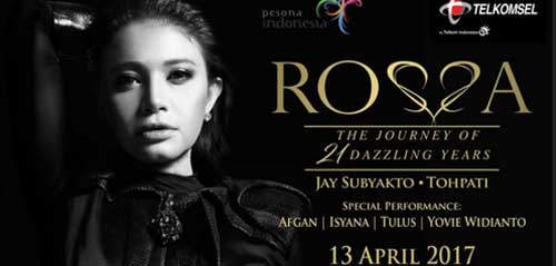"Konser Rossa ""The Journey of 21 Dazzling Years"""