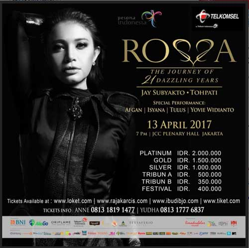Konser Rosa The Journey of 21 Dazzling Years