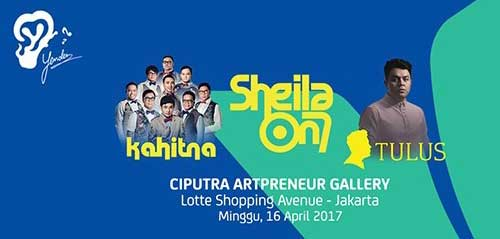 Tulus, Sheila on 7 & Kahitna di Yonder MusicFest Jakarta 2017