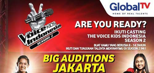 Ikuti Audisi Menyanyi di The Voice Kids Indonesia Season 2