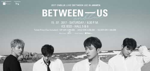 2017 CNBLUE Live Between Us in Jakarta Digelar di ICE