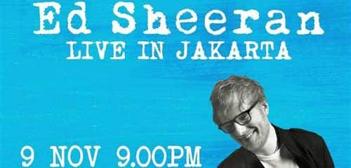 Konser ED Sheeran di Indonesia Convention Exhibition