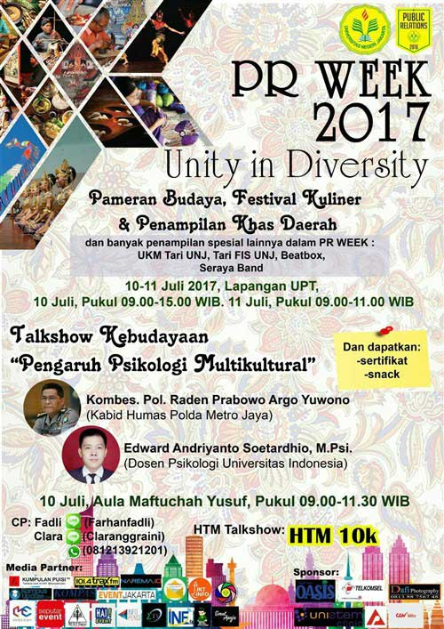 PR WEEK 2017 Unity in Diversity