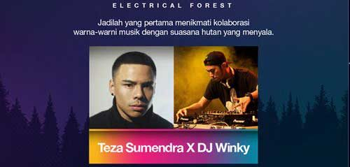 "Teza Sumendra Bintang Tamu Sounds of ""3 Electrical Forest"""