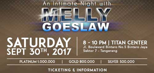 An Intimate Night With Melly Goeslaw di Titan Center