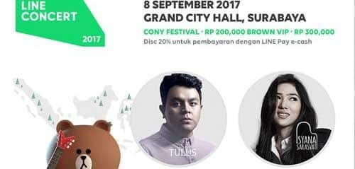 Isyana Hibur Pengunjung LINE Concert Surabaya 2017