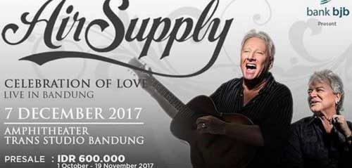 Air Supply Celebration Of Love Live In Bandung