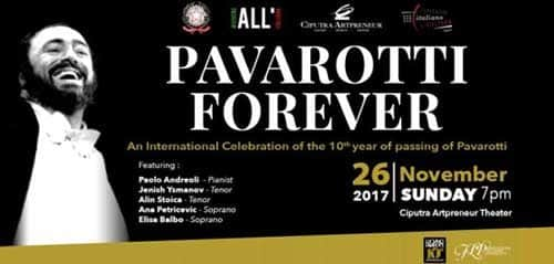 Pavarotti Forever di Ciputra Artpreneur Theater