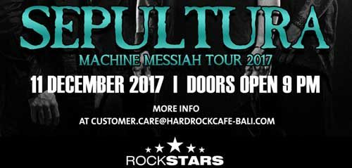 Machine Messiah World Tour 2017 dari Sepultura
