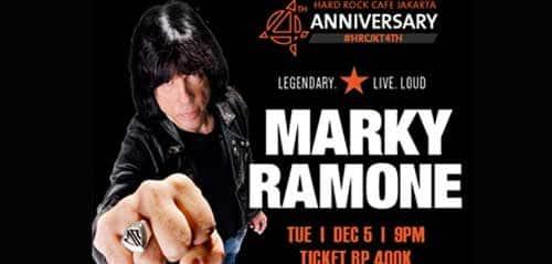 Meet & Greet Marky Ramone di Hard Rock Cafe 4th Anniversary