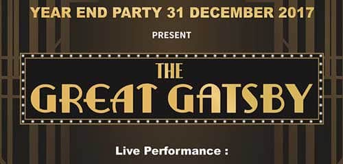 The Great Gatsby Menghibur di New Years Eve Party