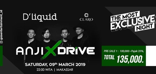 Konser The Most Exclusive Night W/ Anji X Drive di Makasar